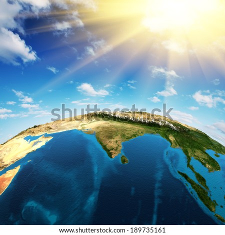 India. Elements of this image furnished by NASA - stock photo