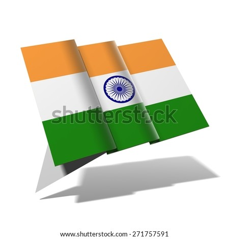 India flag 3D banner - stock photo