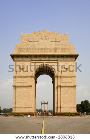 India Gate in New Delhi India - stock photo