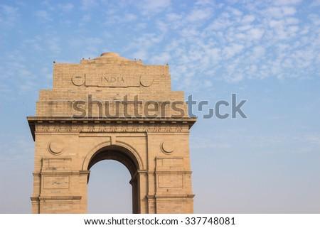India Gate Memorial in Delhi in India - stock photo