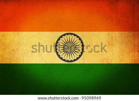 India grunge flag background - stock photo