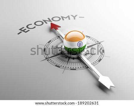 India High Resolution Economy Concept - stock photo