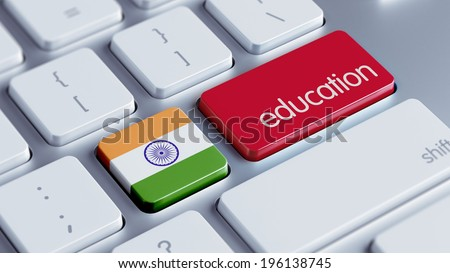 India High Resolution Education Concept - stock photo