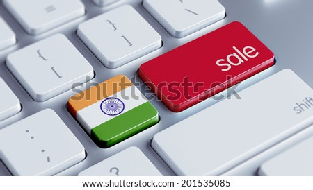 India High Resolution Sale Concept - stock photo