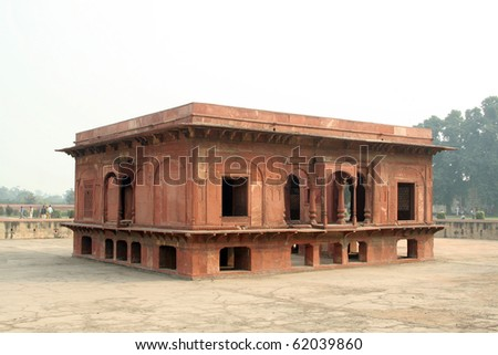 India, New Delhi. Building within the Red Fort - stock photo
