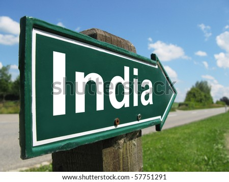 INDIA road sign