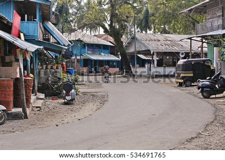 India rural houses landscapes roads