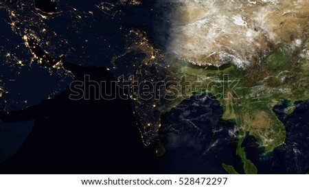 India satellite space view planet earth stock illustration 528472297 india satellite space view planet earth map composition elements of this image furnished by gumiabroncs Choice Image