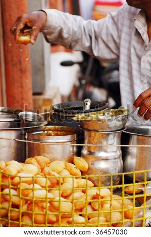 India street food at Jaipur. - stock photo