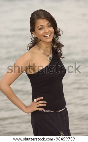 Indian actress AISHWARYA RAI at photocall at the Cannes Film Festival to promote her new movie Pride and Prejudice - The Bollywood Musical. 17MAY2003 - stock photo