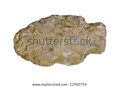 Indian arrowhead isolated on a white background