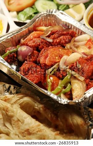indian biryani food with chicken masala - stock photo