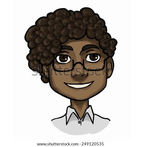 indian boy illustration - stock photo