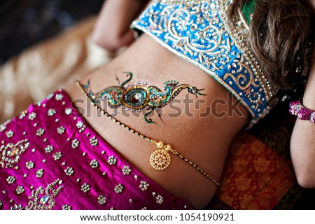 Mehndi Peacock Tattoos : Indian bridal showing henna design peacock stock photo royalty