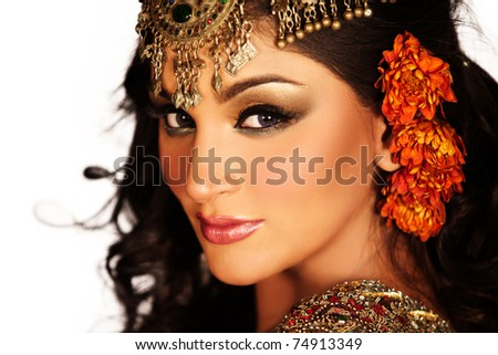 indian bride - stock photo