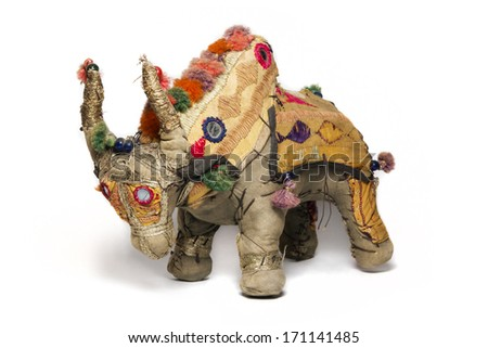 Indian Bull toy - stock photo