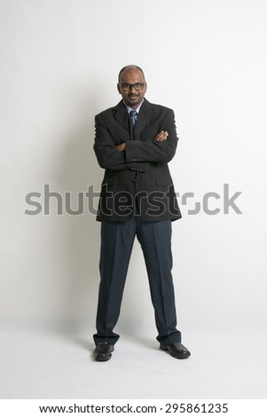 indian business male wearing coat - stock photo