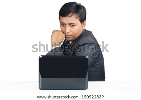 Indian Business Man with Laptop