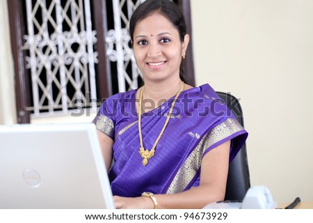Indian business woman working in the office