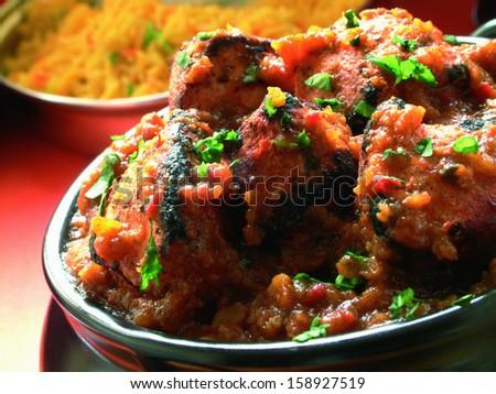 indian Chicken Tandoori  curry sauce - stock photo