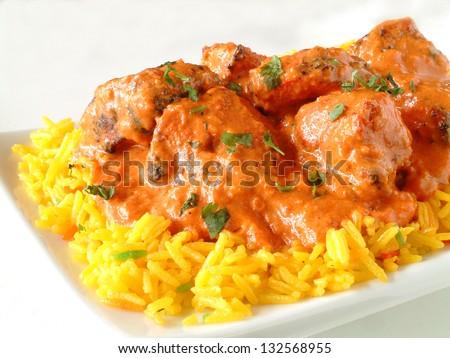 indian chicken tikka masala - stock photo