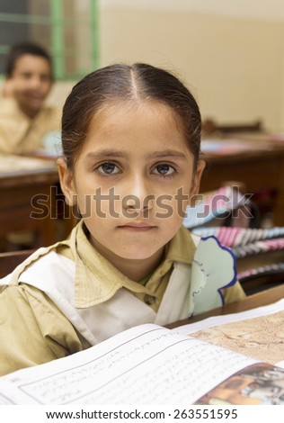 indian child in class - stock photo