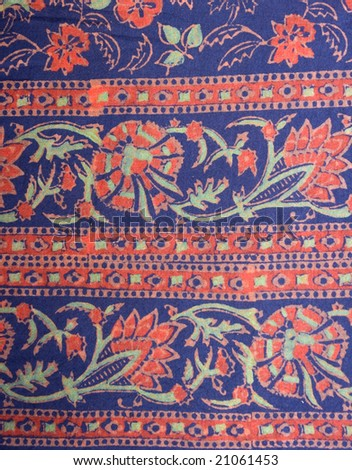 Indian cloth texture - stock photo