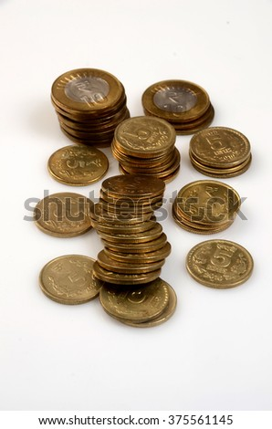 Indian coins - stock photo