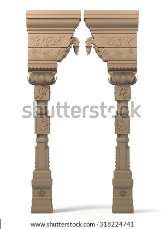Indian Column Arc - stock photo