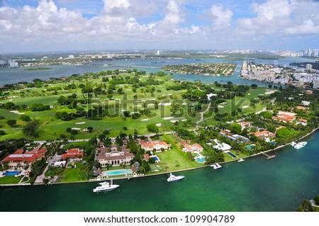 Indian Creek Golf Course, Florida, USA - stock photo