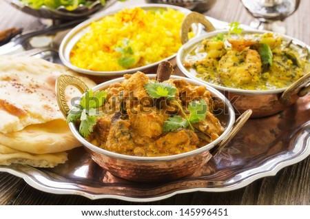 indian cuisine - stock photo