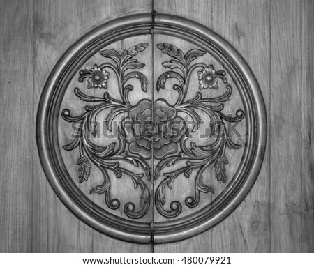 Indian design background, wood craft, carving