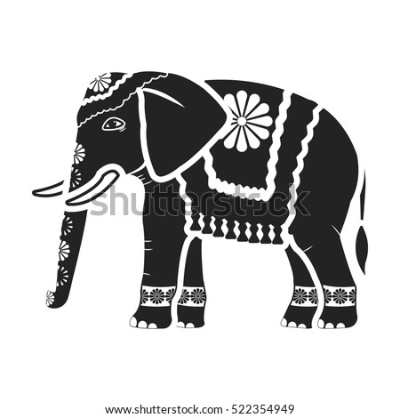 hindu elephant stock images royalty free images vectors shutterstock. Black Bedroom Furniture Sets. Home Design Ideas