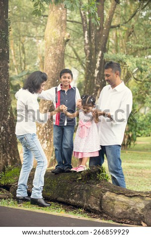 indian family outdoor