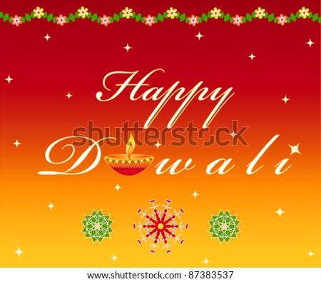 "Indian festival ""Happy Diwali"" greetings - stock photo"