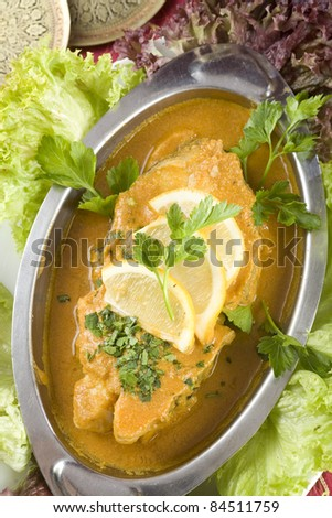 Indian Fish Curry - stock photo