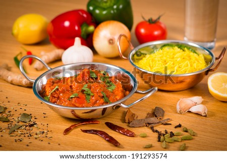 Indian food chicken jalfrezi curry balti stock photo 191293574 indian food chicken jalfrezi curry in balti dish decoration set of vegetables forumfinder Gallery