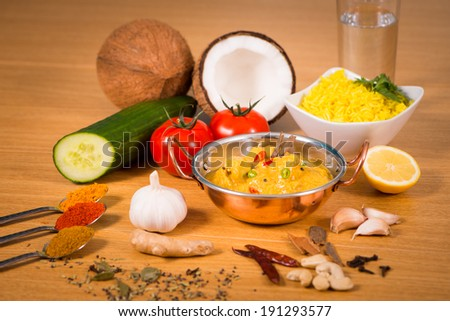 Indian food chicken tikka jalfrezi curry stock photo 100 legal indian food chicken tikka jalfrezi curry in balti dish decoration set of vegetables forumfinder Choice Image