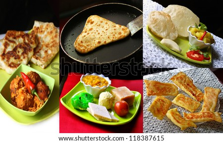 Indian Food collage - stock photo