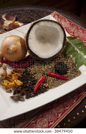 Indian Food ingredients and flavors - stock photo