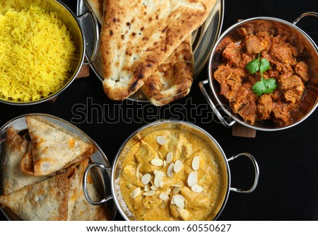 Indian Food Selection - stock photo