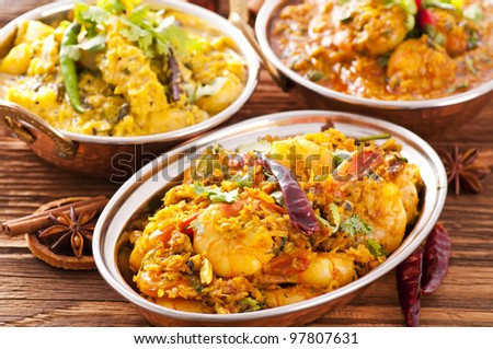 Indian food specialities - stock photo