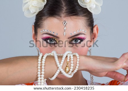 Indian girl eyes - stock photo