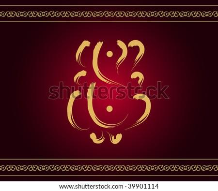Indian God Ganesha - stock photo