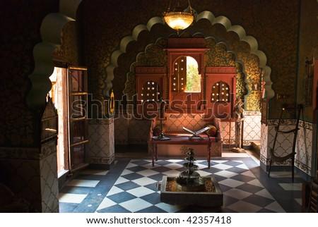Indian Haveli interior - stock photo