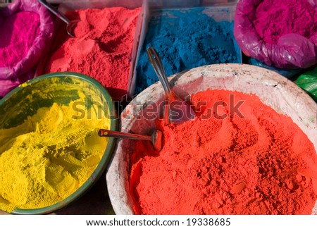 Indian Hindu paints - stock photo