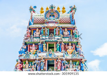 Indian hindu temple in singapore