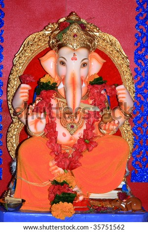 Indian icon-The Lord Ganesha-I - stock photo