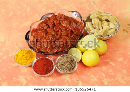 Indian Lemon Pickle - stock photo