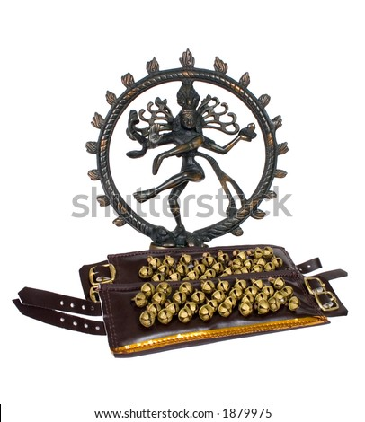 Indian Lord of the Dance 'Natraj' with anklets - stock photo